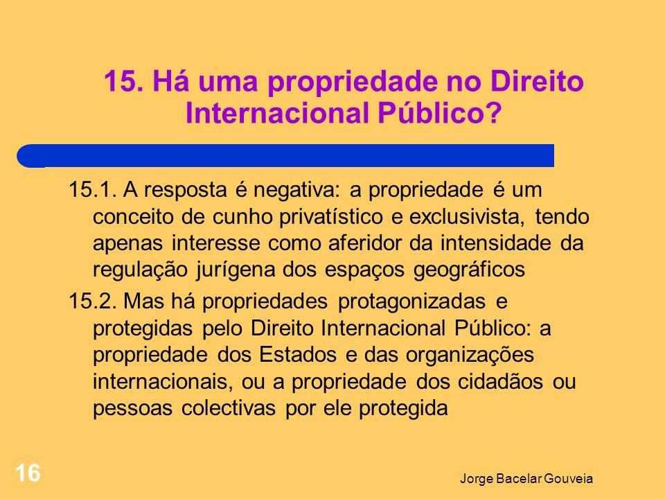 Jorge Bacelar Gouveia 16 15.Há uma propriedade no Direito Internacional Público.
