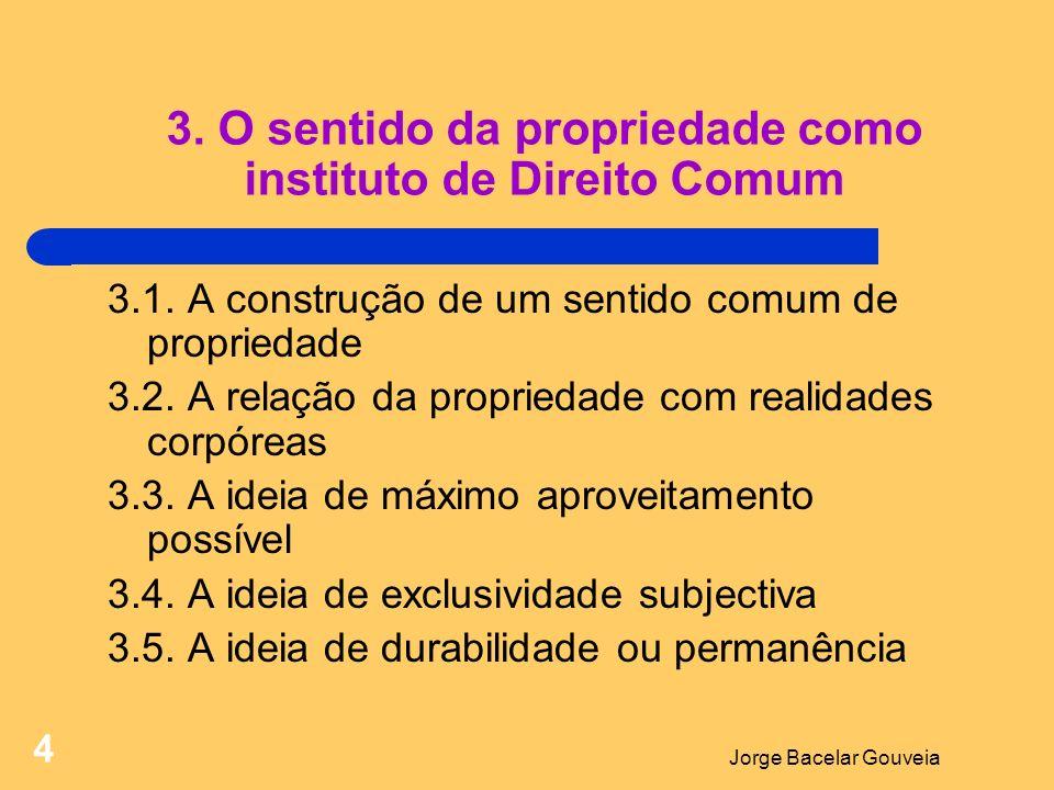 Jorge Bacelar Gouveia 4 3.O sentido da propriedade como instituto de Direito Comum 3.1.