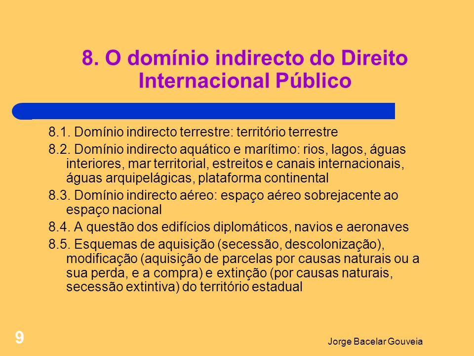 Jorge Bacelar Gouveia 9 8.O domínio indirecto do Direito Internacional Público 8.1.