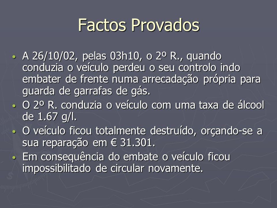 Factos Provados A 05/06/02 a A.aderiu a uma proposta feita pela 1ªR.