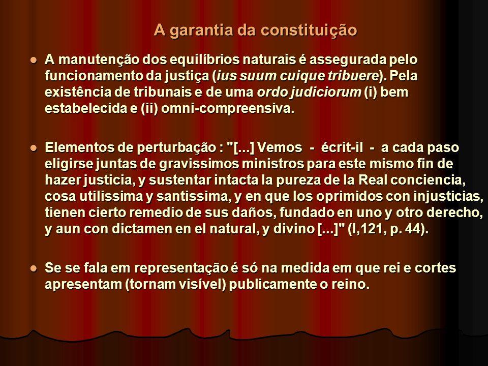 A manutenção dos equilíbrios naturais é assegurada pelo funcionamento da justiça (ius suum cuique tribuere).