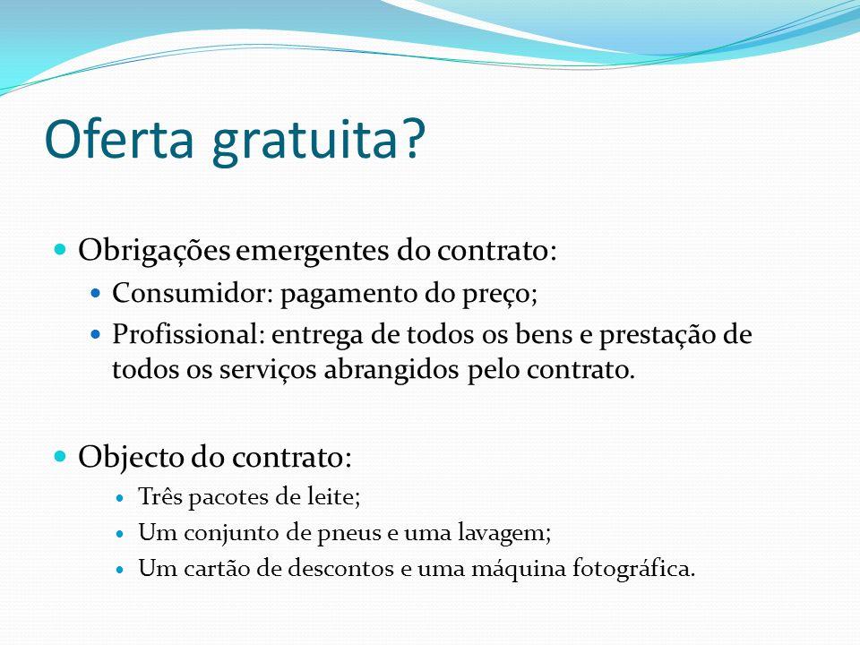 Distinção dos contratos ligados Contratos promocionais: um só contrato, com vários objectos; Contratos ligados: dois contratos (imposição da celebração de um contrato para celebrar outro).