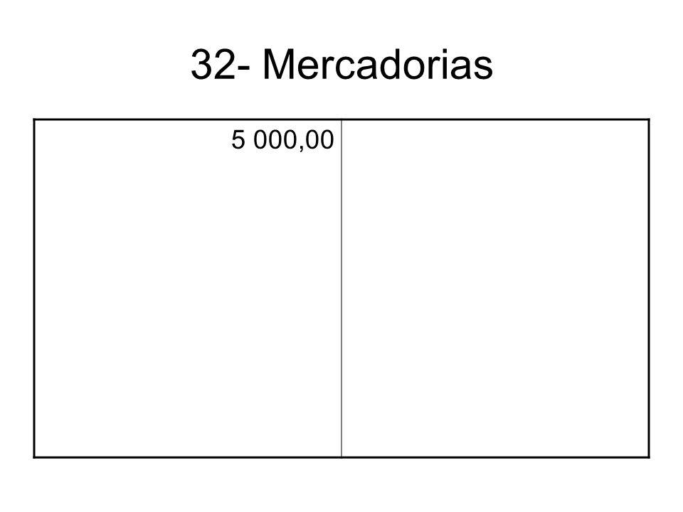 32- Mercadorias 5 000,00