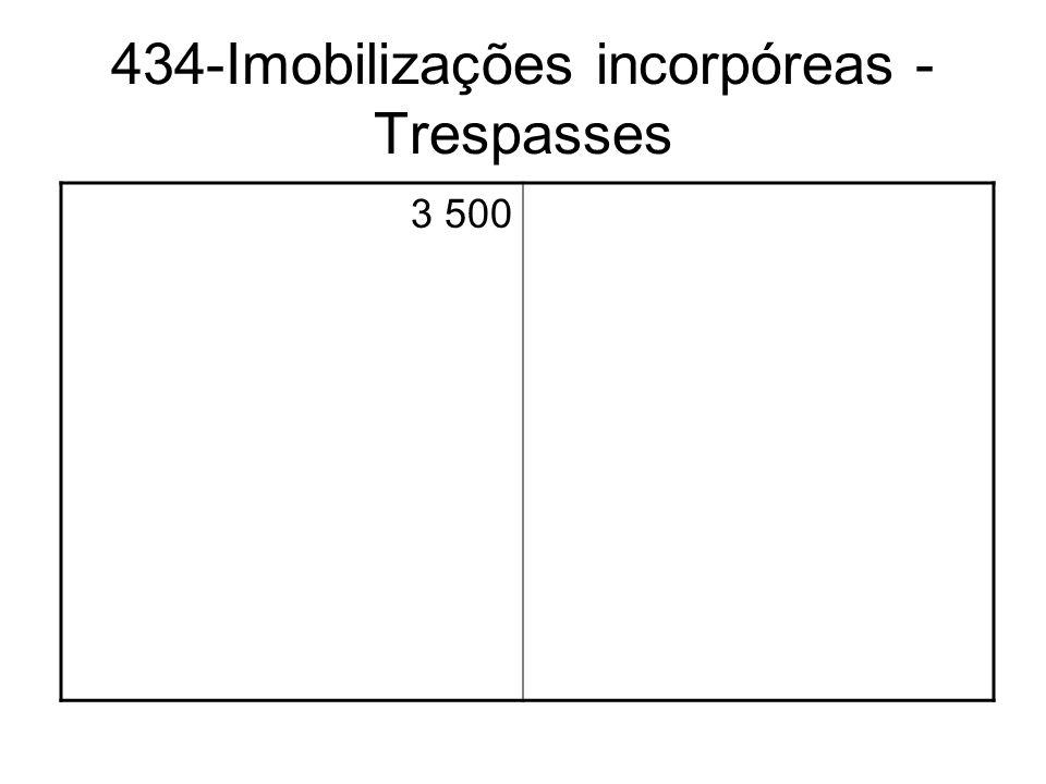 434-Imobilizações incorpóreas - Trespasses 3 500