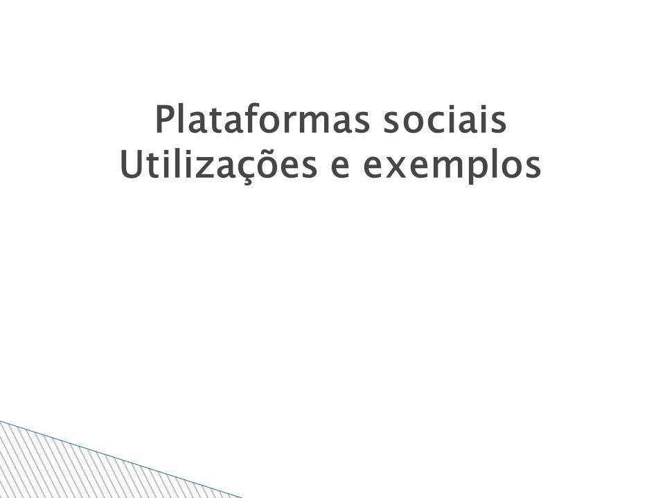 Plataformas sociais Utilizações e exemplos