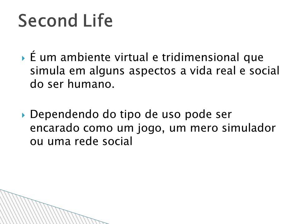 É um ambiente virtual e tridimensional que simula em alguns aspectos a vida real e social do ser humano.
