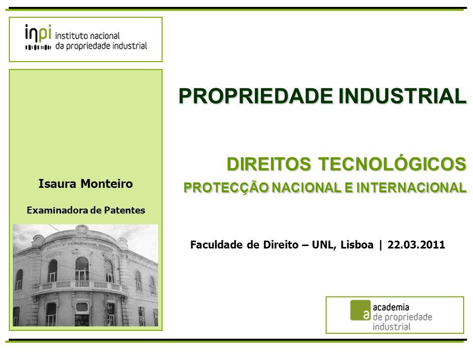 AGENDA I.Propriedade Industrial II. Protecção das Invenções III.
