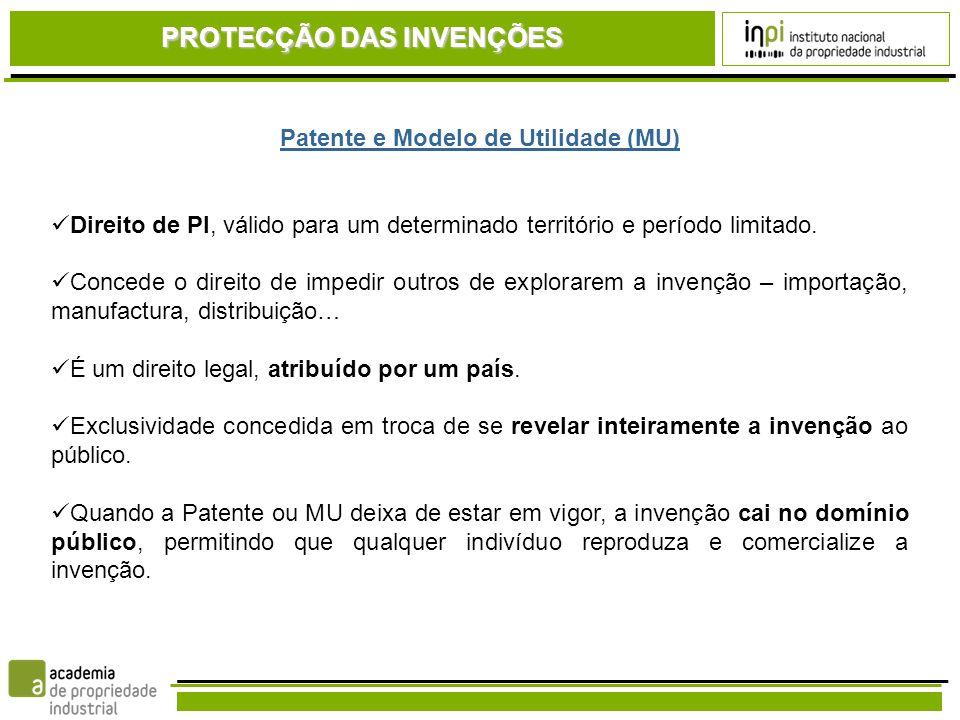 CÓDIGO DA PROPRIEDADE INDUSTRIAL (CPI) EUROPA / PORTUGAL A invenção tem que: Possuir carácter técnico Ser nova Envolver actividade inventiva Ter aplicação industrial Critérios de Patenteabilidade O QUE É PATENTEÁVEL…