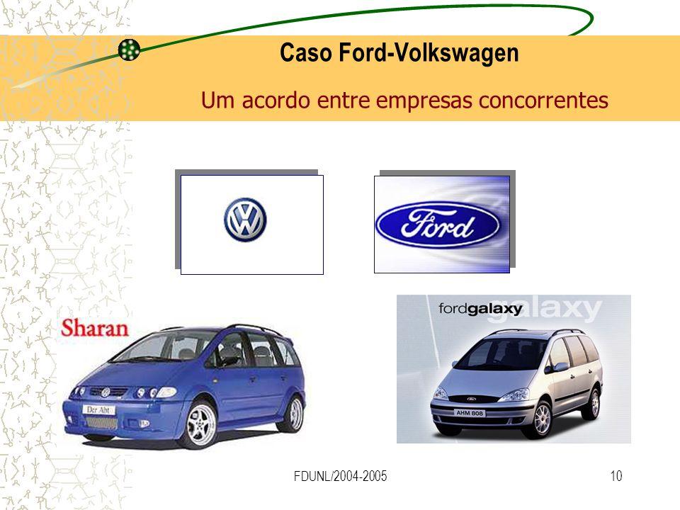 FDUNL/2004-200510 Caso Ford-Volkswagen Um acordo entre empresas concorrentes