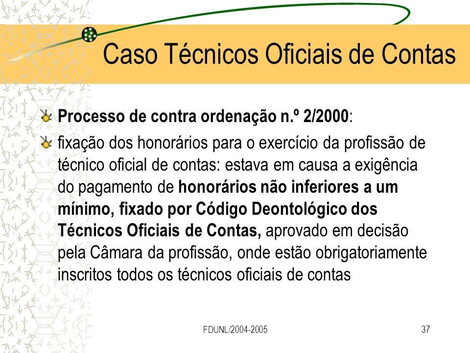 FDUNL/2004-200537 Processo de contra ordenação n.º 2/2000 : fixação dos honorários para o exercício da profissão de técnico oficial de contas: estava