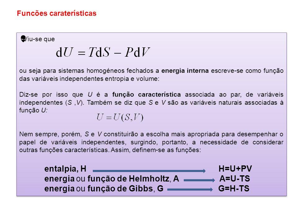 O segundo princípio da termodinâmica introduz a função entropia, S, tal que numa transformação (reversível) elementar é onde T é a temperatura do sist