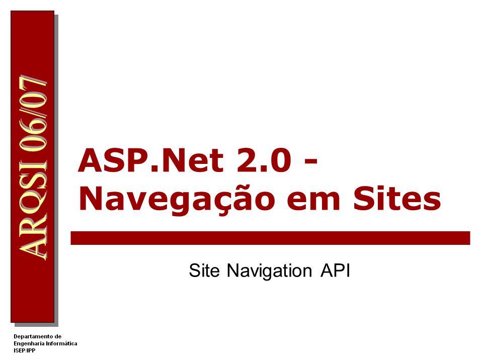 ASP.Net 2.0 - Navegação em Sites Site Navigation API