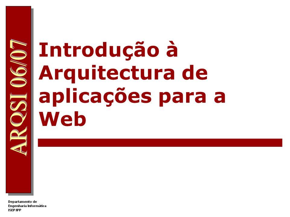 Introdução à Arquitectura de aplicações para a Web