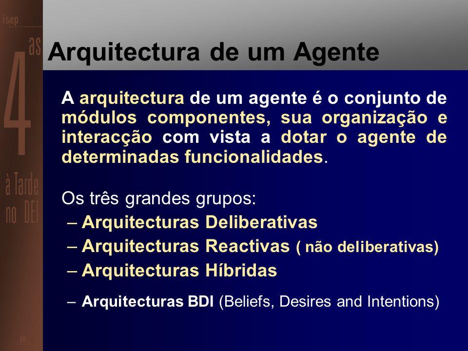 Um agente é um sistema computacional capaz de uma acção autónoma e flexível num determinado ambiente (Woldridge 1999).