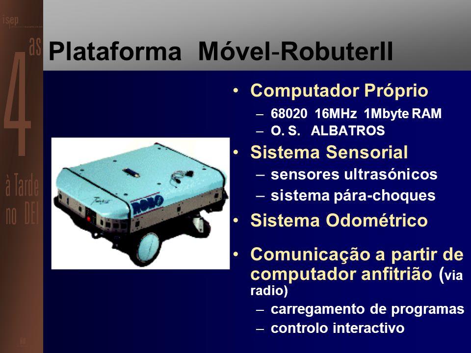 Robôs Móveis Um robô móvel é por inerência um agente autónomo cujo comportamento é determinado pela interacção dos seus próprios processos com o ambiente em que está integrado, no contexto de execução de uma determinada tarefa.