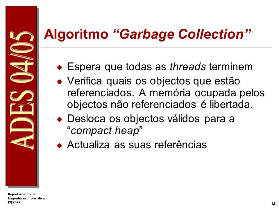 13 DEMO 01 Ficheiro Demo1.vb vbc /t:exe /out:Demo1VB.exe Demo1.vb ildasm Demo1VB.exe Imports System namespace Ades public class Demo public Shared Sub