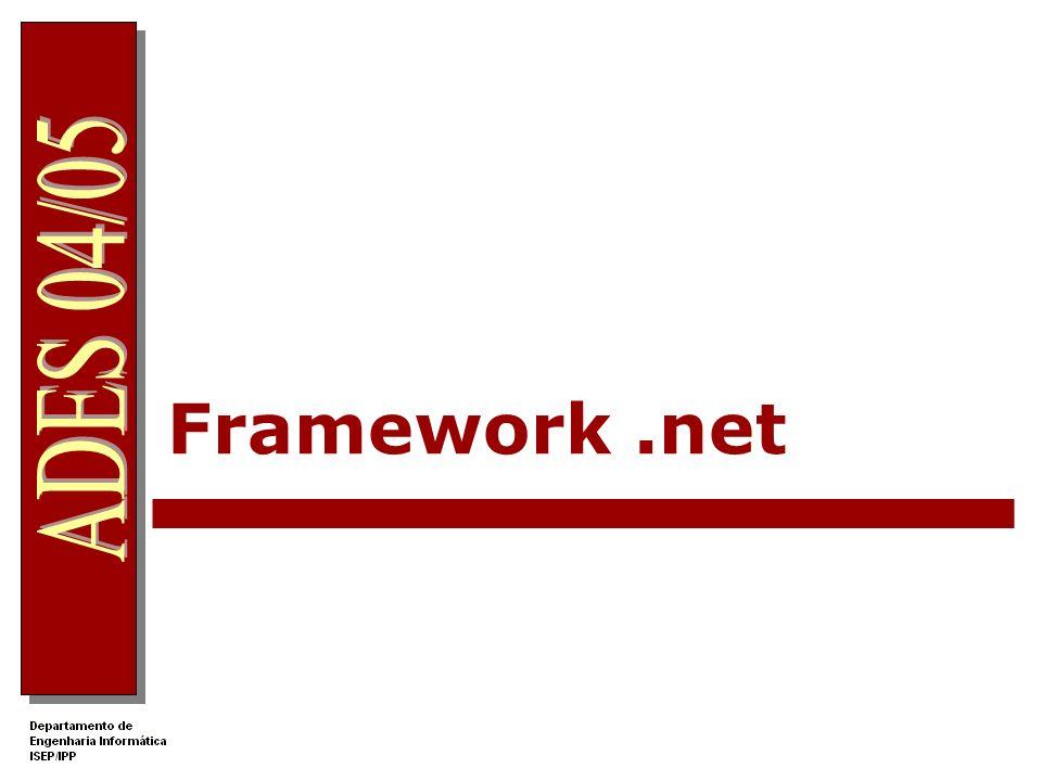 32 Colocação de conteúdos ASP.net no IIS Num servidor IIS local Aceder a c:\inetpub\wwwroot Criar uma directoria para colocar as páginas do site Classificar essa directoria como sendo uma Directoria Virtual (recorrendo a Computer Management no painel de controlo) O acesso web é feito pela URL http://localhost/nomeDirectoriaVirtual