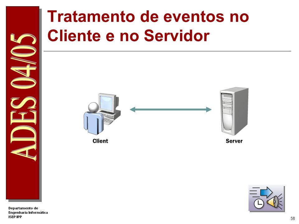 57 Scripts no servidor Utilizado em qualquer tipo de Server Control Compilado e executado no servidor Tem acesso aos recursos do servidor Internet.ASP