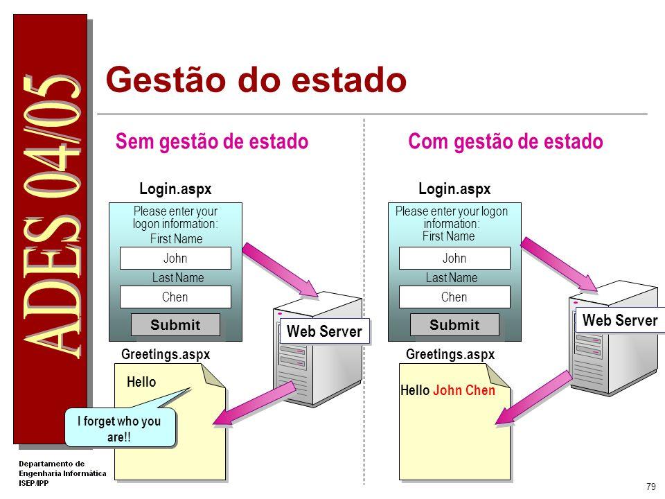 78 DEMO 07: User Control Criação de User Controls Utilização de User Controls
