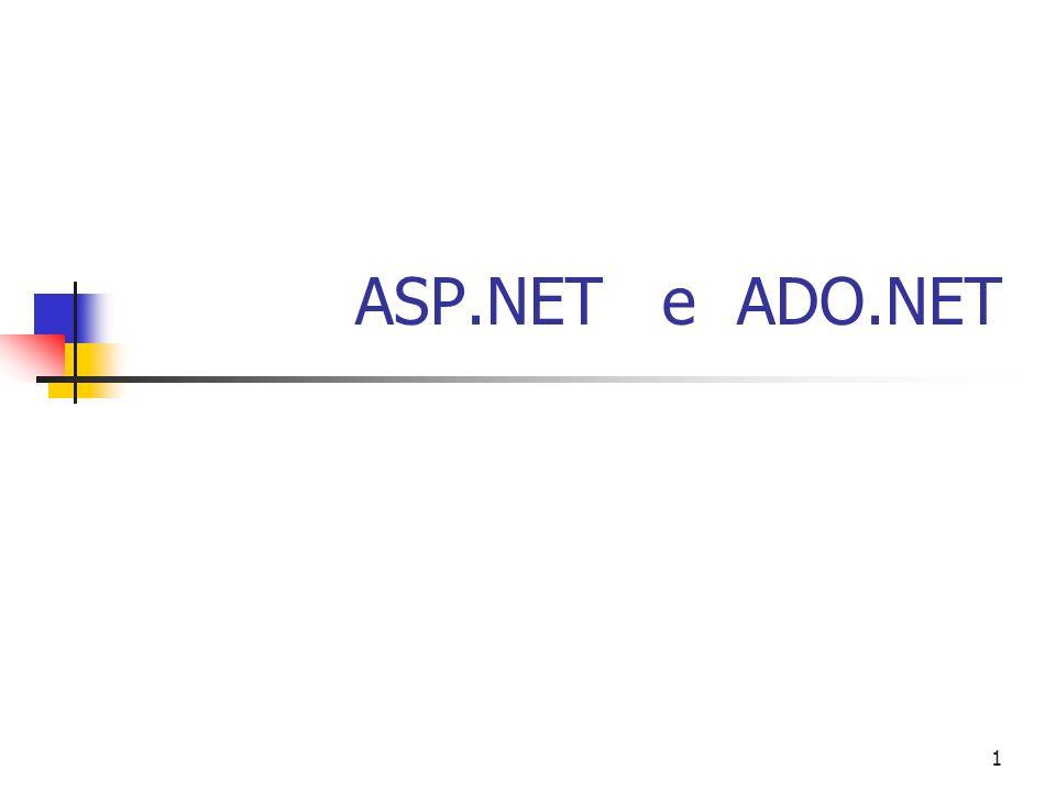 1 ASP.NET e ADO.NET