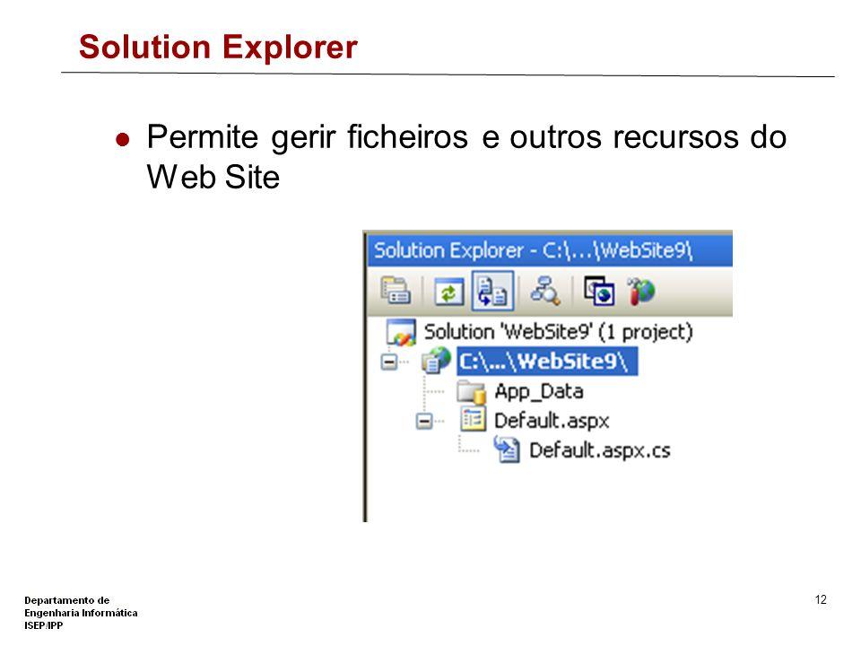 11 ToolBox – WebPart Controls Criação de Portais Web WebPartManager WebPartZone...