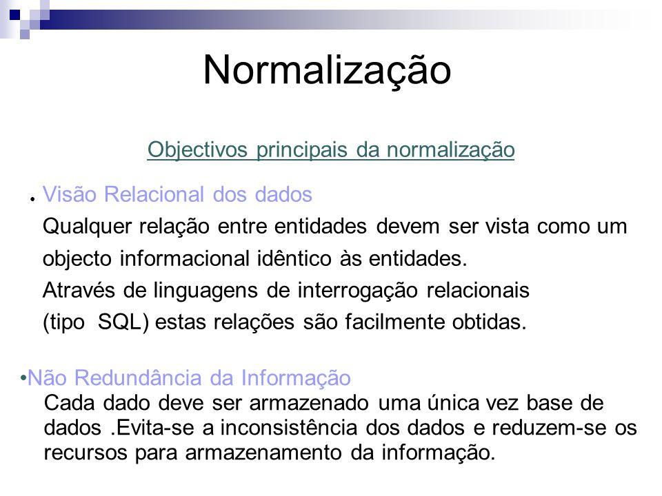 Normalização 1º FORMA NORMAL Um ficheiro está na 1º forma normal se não tiver grupos repetidos No caso do exemplo basta partir o ficheiro em dois : Requisições Livros_Requisitados