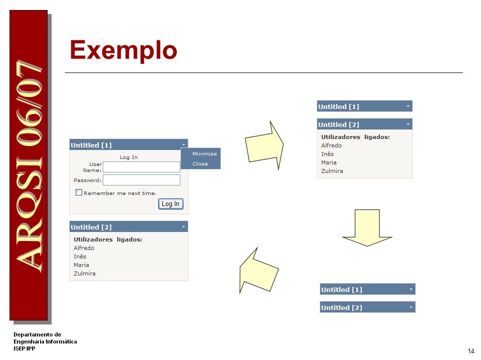 13 Exemplo WebPartManager Primeiro controlo a colocar na página WebPartZone Login User Control