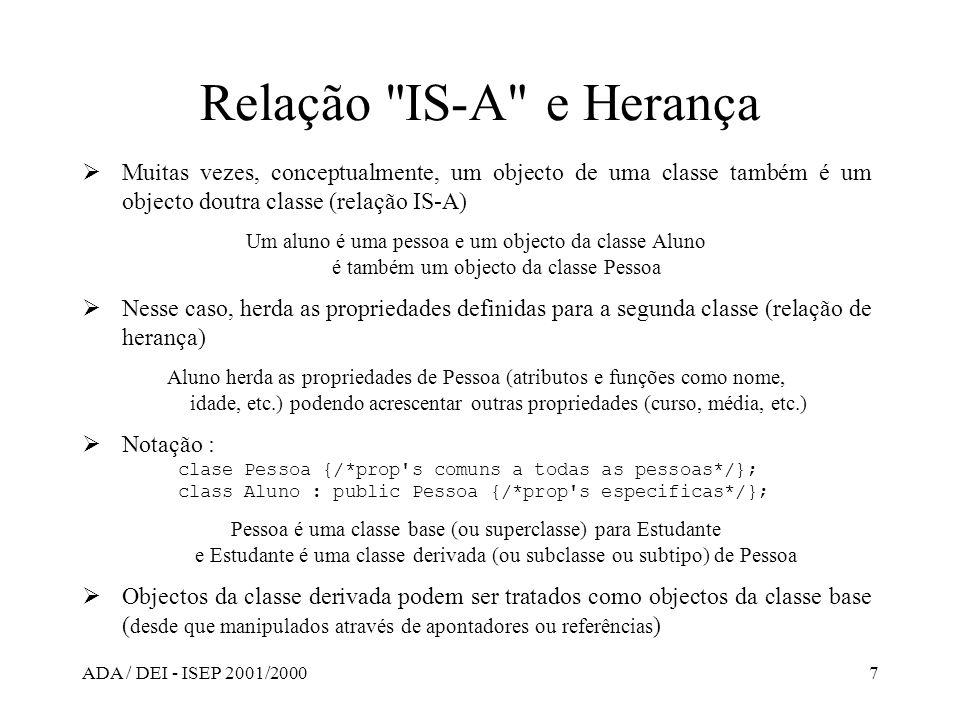 ADA / DEI - ISEP 2001/20007 Relação