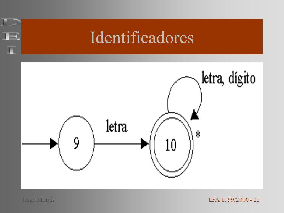Identificadores LFA 1999/2000 - 15Jorge Morais
