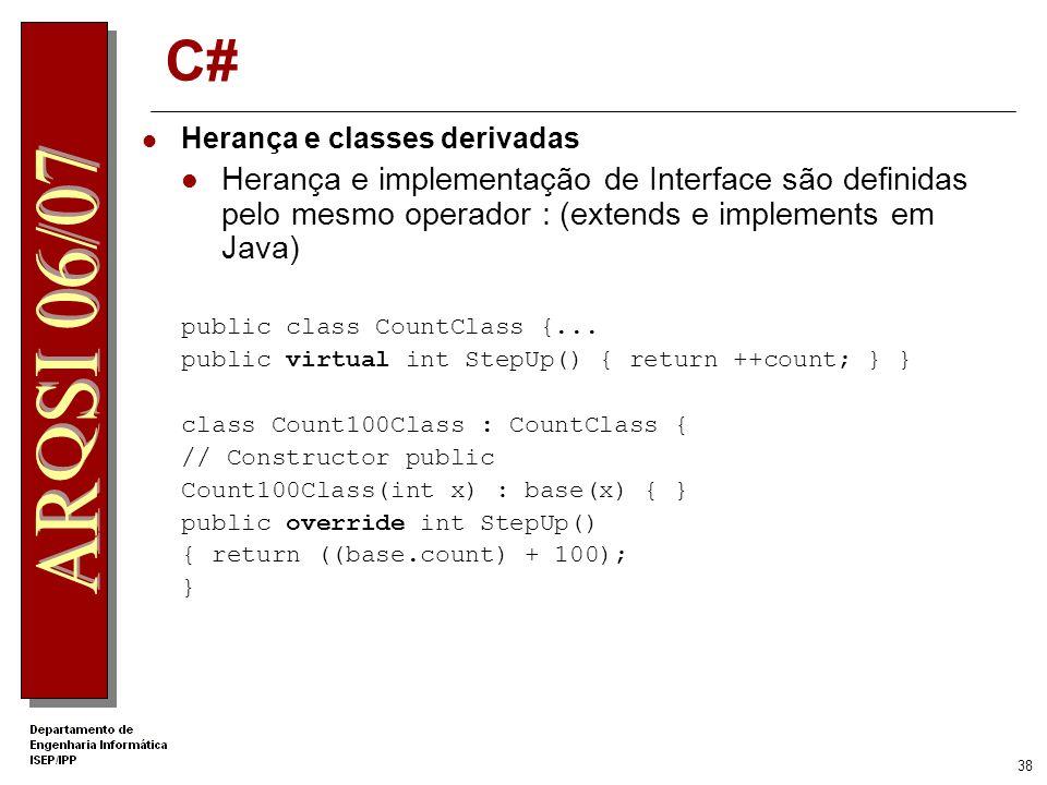 37 C# Array int[] MyArray; // declares the array reference MyArray = new int[5]; //creates a 5 element integer array MyArray = new int[5] {1, 2, 3, 4,