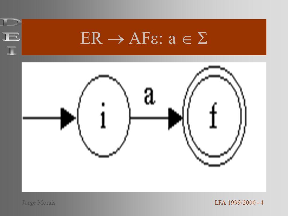 ER AF : E 1 + E 2 LFA 1999/2000 - 5Jorge Morais