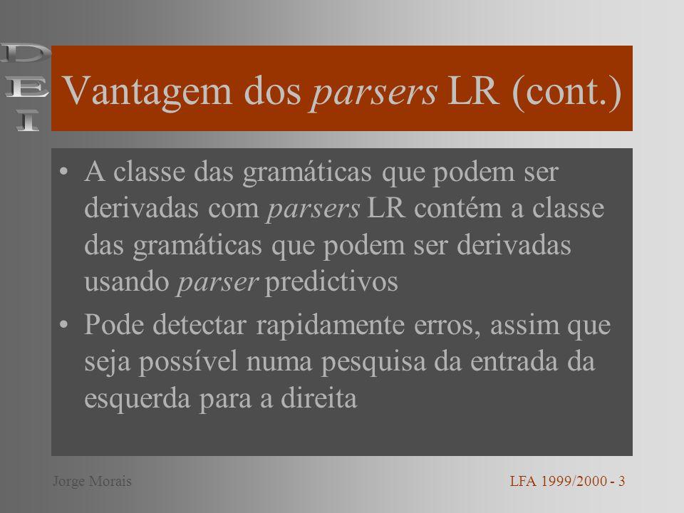 Modelo dum parser LR LFA 1999/2000 - 4Jorge Morais
