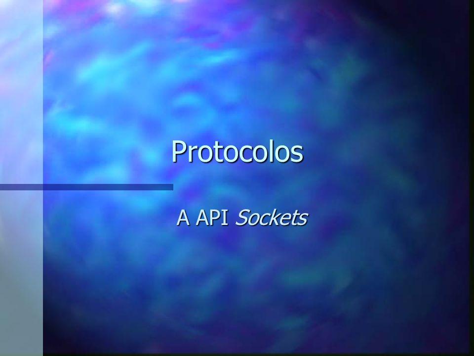 Protocolos A API Sockets