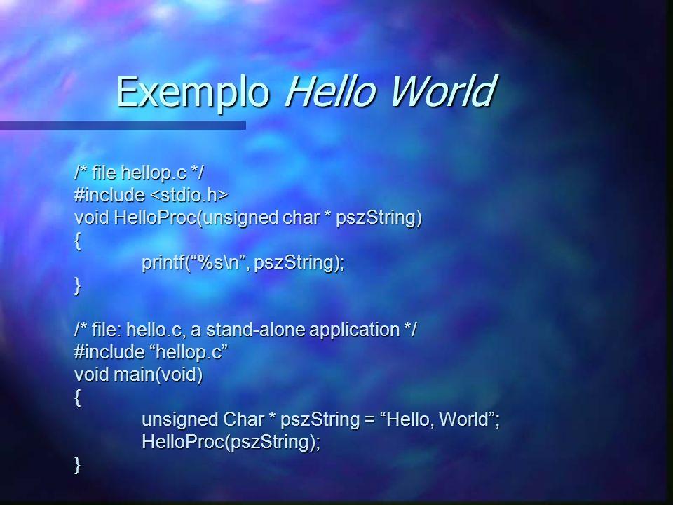 Definição do Interface //file hello.idl [uuid(7a98c250-6808-11cf-b73b-00aa00b677a7),version(1.0)] interface hello { void HelloProc([in, string] unsigned char * pszString); void Shutdown(void); } A função Shutdown permite que o cliente desligue o servidor A função Shutdown permite que o cliente desligue o servidor