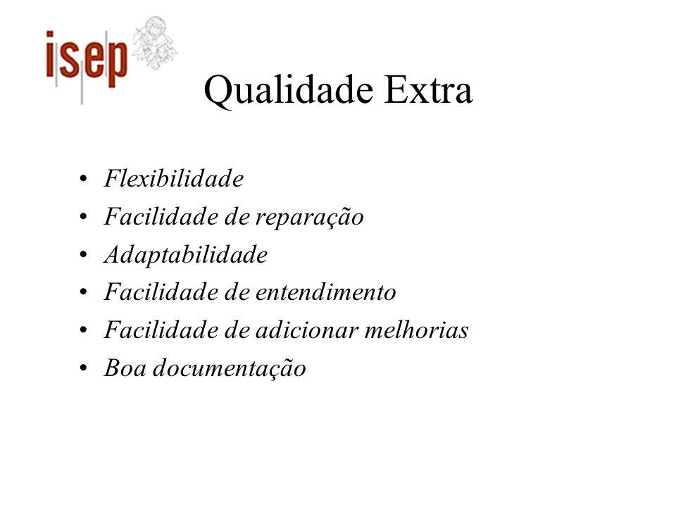 Qualidade Extra Flexibilidade Facilidade de reparação Adaptabilidade Facilidade de entendimento Facilidade de adicionar melhorias Boa documentação
