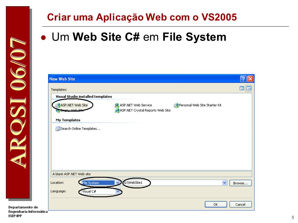 15 Solution Explorer Permite gerir ficheiros e outros recursos do Web Site