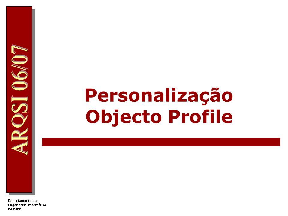 Personalização Objecto Profile