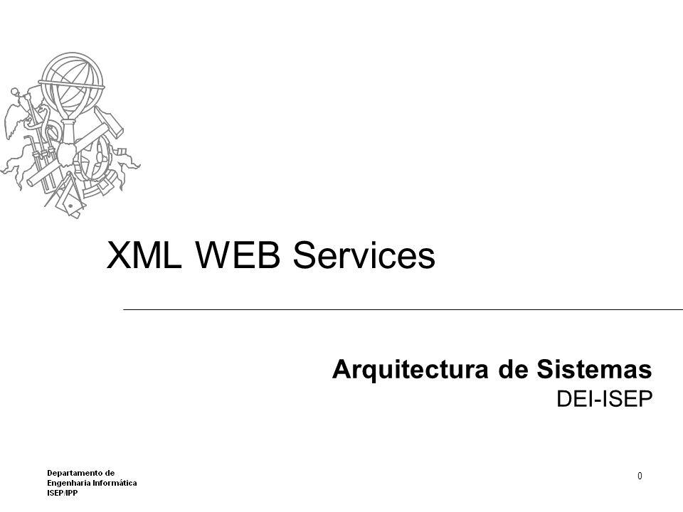 ASP.NET Web Services Classe WebServiceSomar(proxy) no cliente é responsável pela chamada do serviço Acrescentando ao projecto um class diagram permite ver o código da classe, gerada pela framework.