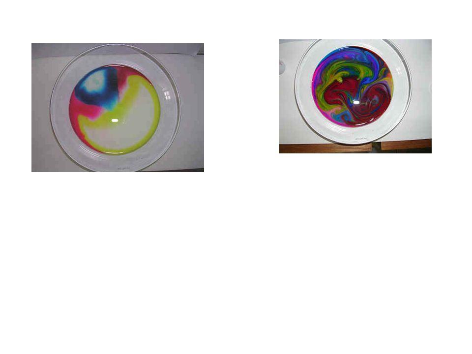O que você precisa: 1 prato fundo um pouco de leite corantes de alimento (pelo menos duas cores diferentes) 1 palito de dente detergente de cozinha O que deve fazer: 1.