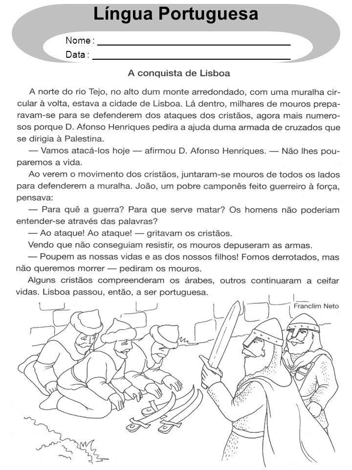 Língua Portuguesa Nome : ______________________________________ Data : _______________________________________