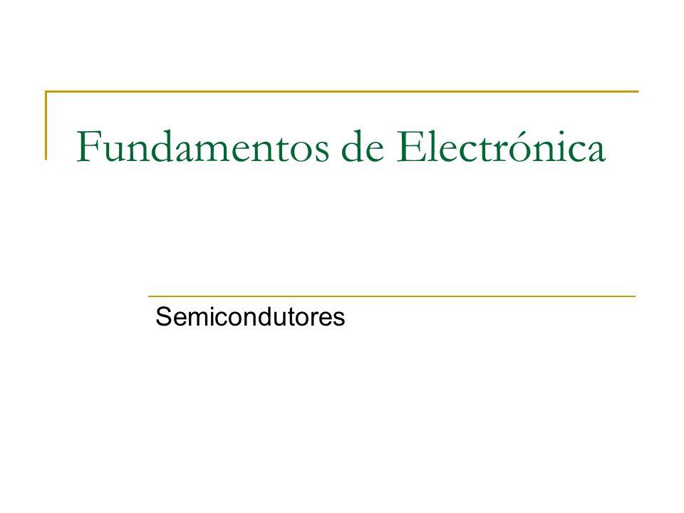 Fundamentos de Electrónica Semicondutores