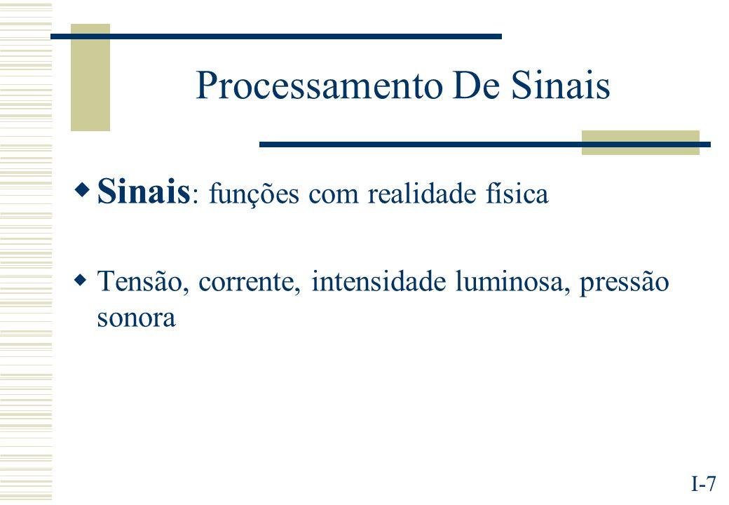 I-8 Processamento Digital De Sinais DSP vs analógico.