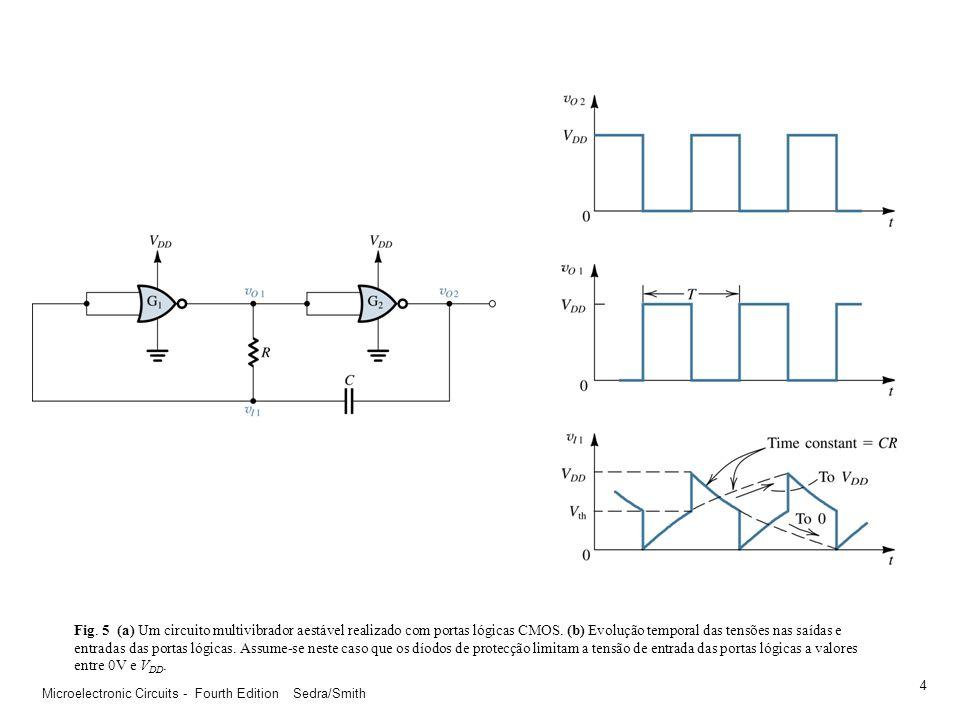Microelectronic Circuits - Fourth Edition Sedra/Smith 3 Fig. 4 (a) A utilização de um comparador Schmitt-trigger em conjunção com um filtro passivo pa