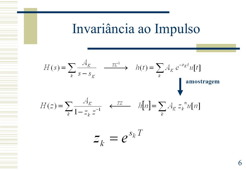 6 Invariância ao Impulso amostragem