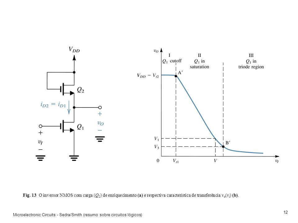 Microelectronic Circuits - Sedra/Smith (resumo sobre circuitos lógicos) 11 Fig. 12 Porta lógica NAND usando transístores e díodos de Schottky (STTL).