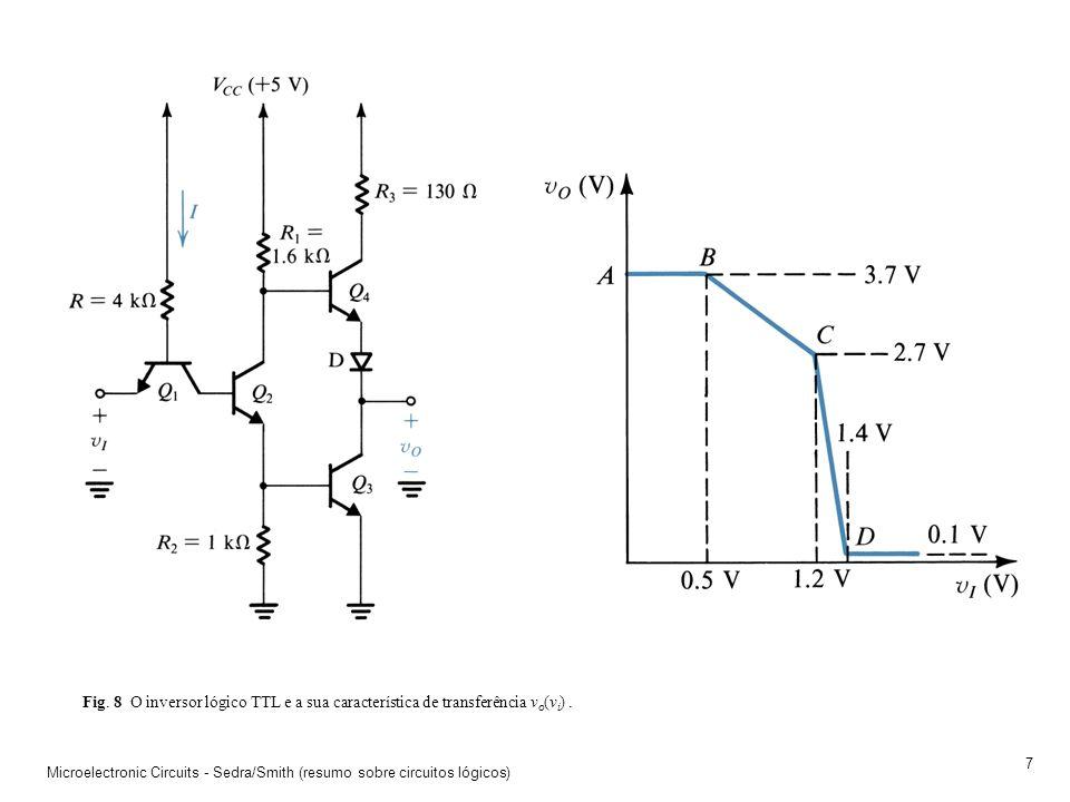 Microelectronic Circuits - Sedra/Smith (resumo sobre circuitos lógicos) 6 Fig. 7 A porta lógica NAND em tecnologia DTL (Diode Transistor Logic). A ten