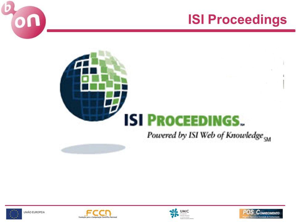 ISI Proceedings