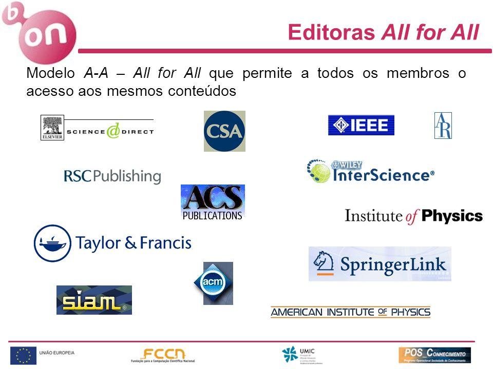 Editoras All for All Modelo A-A – All for All que permite a todos os membros o acesso aos mesmos conteúdos