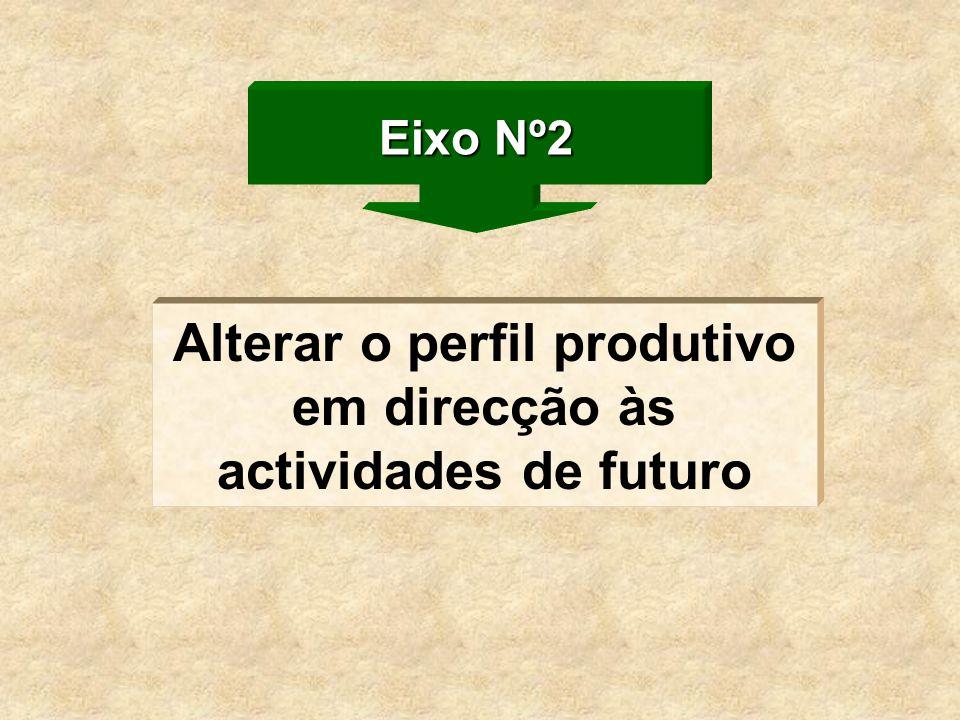 Alterar o perfil produtivo em direcção às actividades de futuro Eixo Nº2