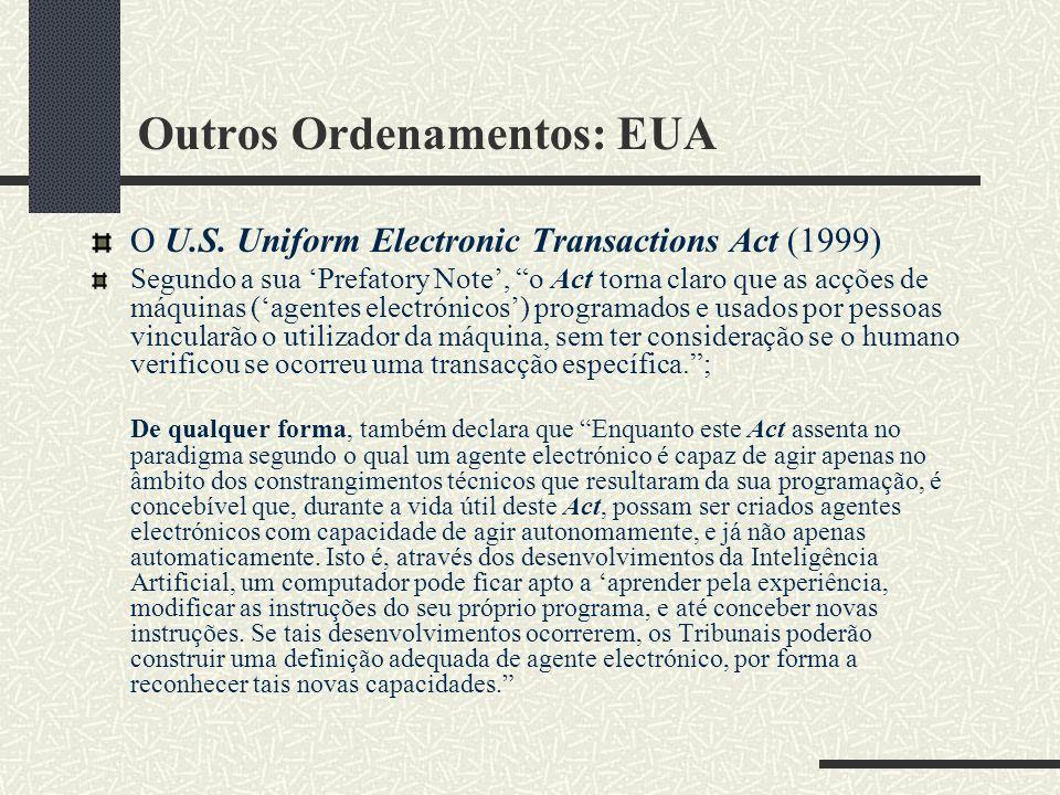 Outros Ordenamentos: EUA O U.S.